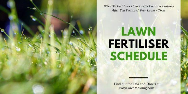 Lawn Fertiliser Schedule
