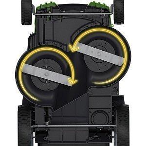 GreenWorks 25302 dual blades