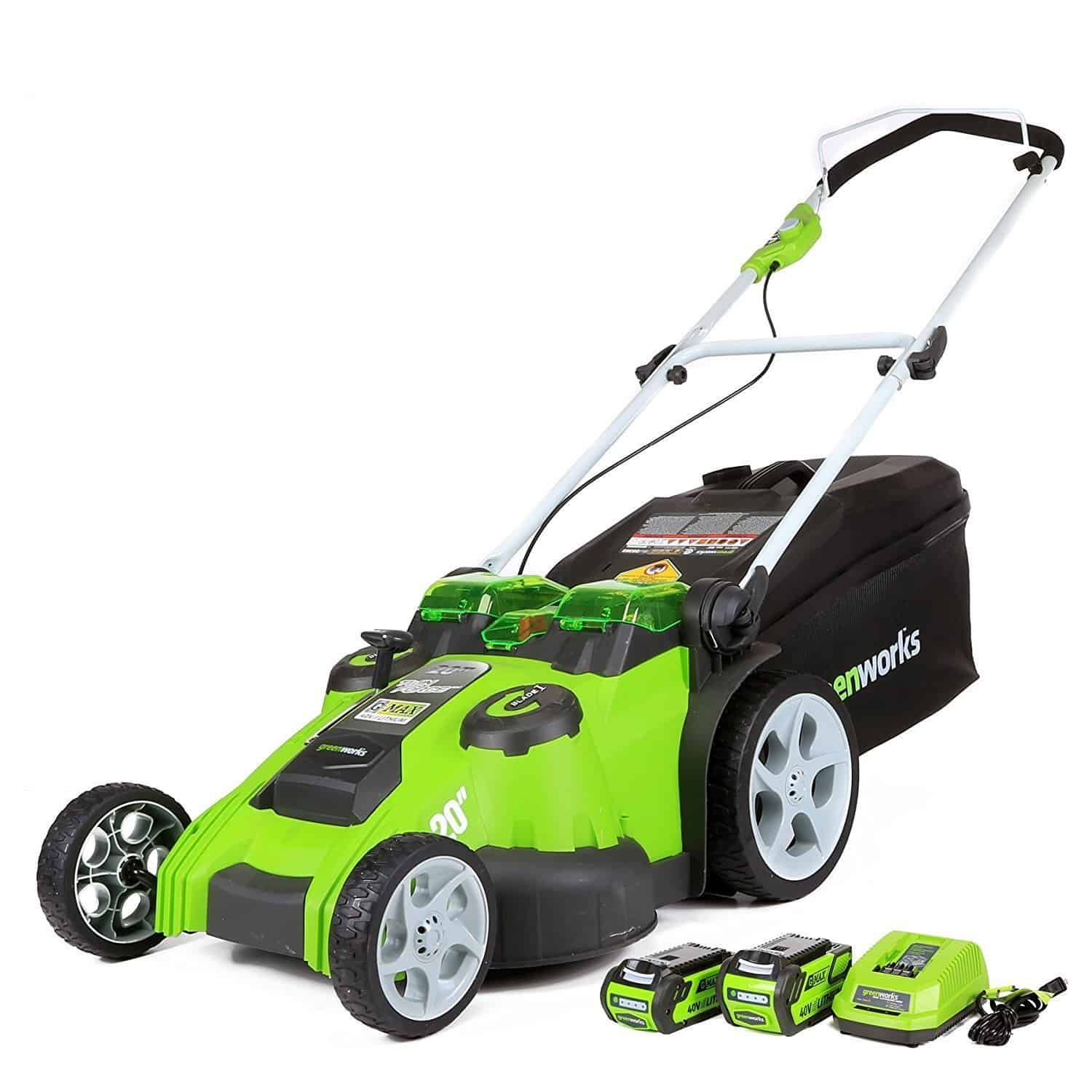 Greenworks 40v Cordless Dual Blade Lawn Mower Review 49cm