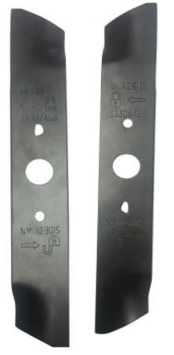 Set of 2 GreenWorks 29712 10 inch Mower Blades G-Max Twin Force 25302