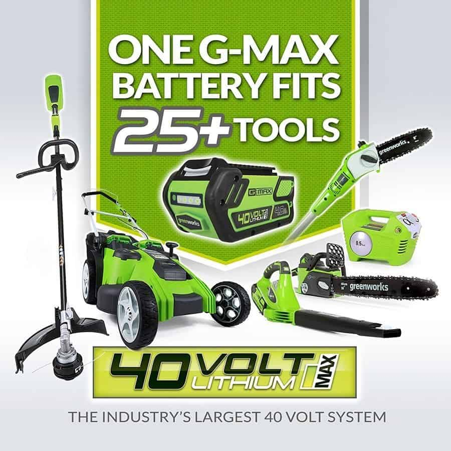 Greenworks 40v 35cm battery all
