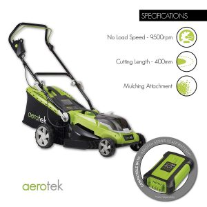Aerotek Cordless Lawn Mower Specs