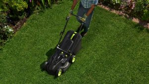 Gtech Cordless Lawnmower Mowing