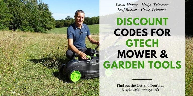 Gtech Lawnmower Discount Codes