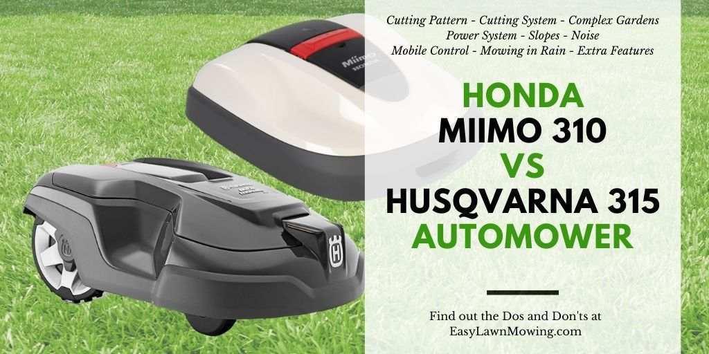 Honda Miimo 310 vs Husqvarna 315 Automower