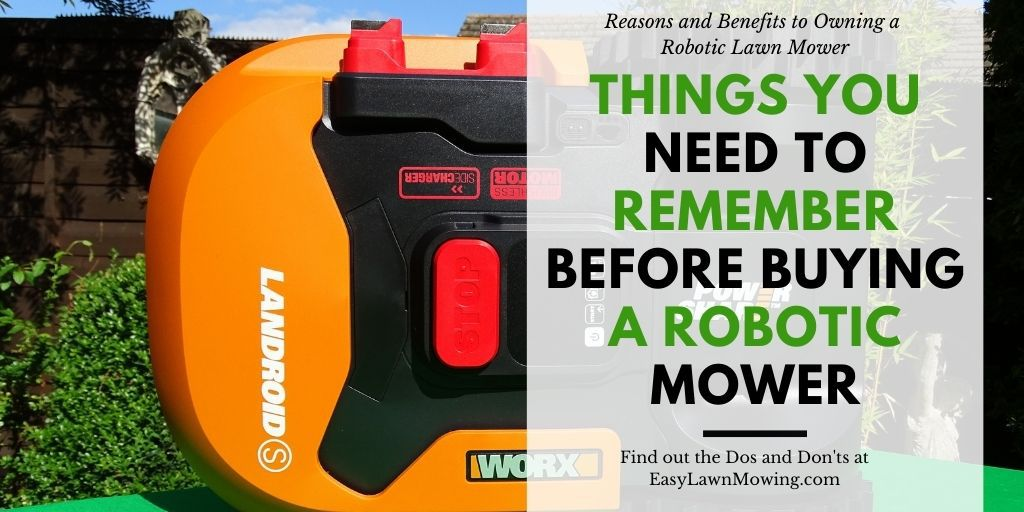 Things You Need To Remember Before Buying A Robotic Mower