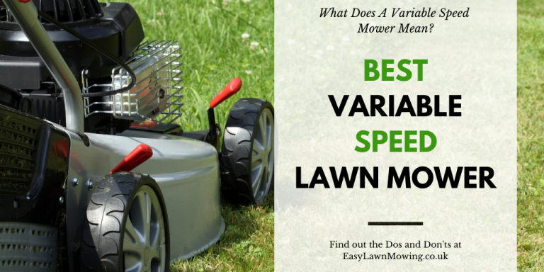 Best Variable Speed Lawn Mower