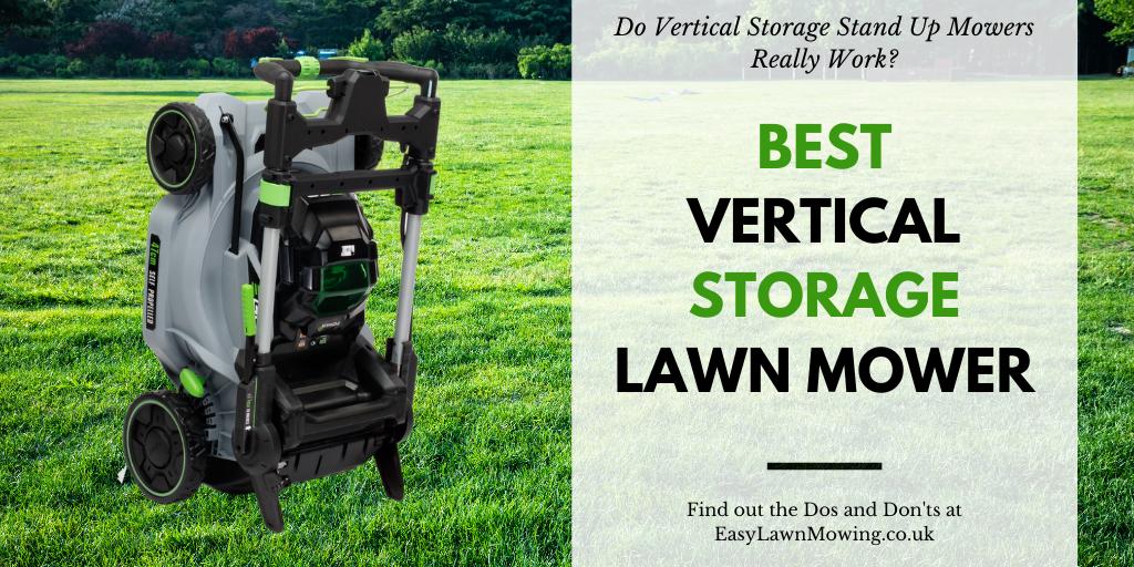 Best Vertical Storage Lawn Mower