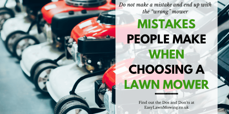 Mistakes People Make When Choosing A Lawn Mower
