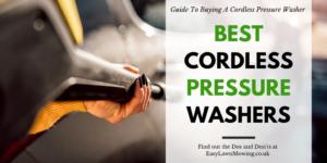 Best Cordless Pressure Washers