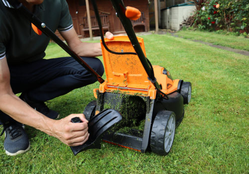 LawnMaster CLMF2434G Mulching