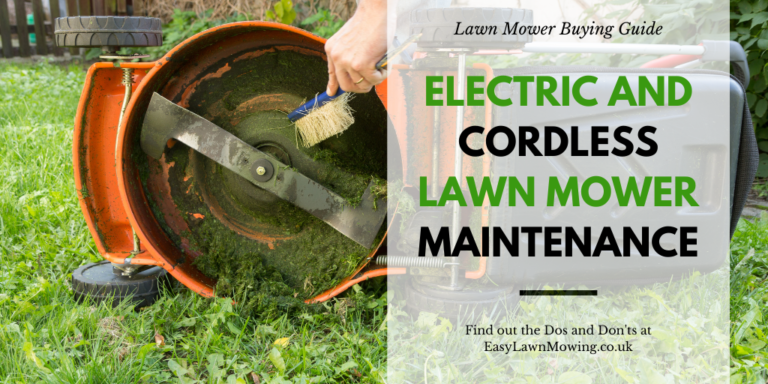 Electric And Cordless Lawn Mower Maintenance
